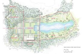 Map With Labels Aga Khan Garden Concept Illustrations