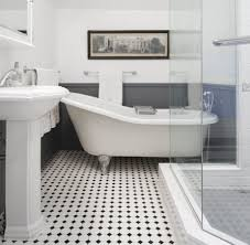 Subway Tile Bathroom Floor Ideas Ideas Enchanting White Tile Flooring Ideas Classic Bathroom