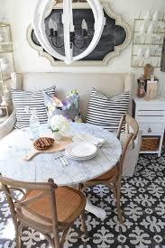 Kitchen Table With Booth Seating by 25 Best Small Round Kitchen Table Ideas On Pinterest Round