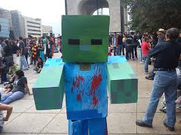 Minecraft Costume Halloween Zombie Costume Minecraft
