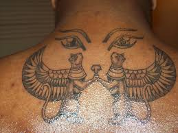 egyptian pyramid and sphinx tattoos on arm photos pictures and