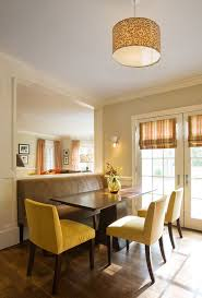 Breakfast Banquette Shades For French Doors Dining Room Contemporary With Banquette