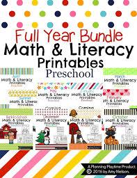 preschool literacy worksheets march preschool worksheets planning playtime