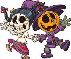 dia de muertos and halloween u2014 stock vector memoangeles 14151765