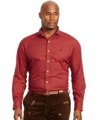 polo ralph lauren big u0026 tall checked twill estate shirt casual