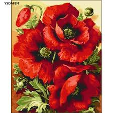 compare prices on art paintings of flowers online shopping buy