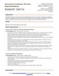 customer service representative resumes insurance customer service representative resume sles qwikresume