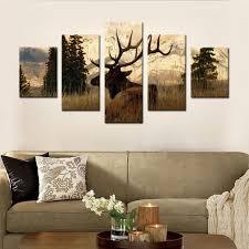 wohnzimmer leinwand aliexpress elch in den wald leinwand set wand dekor