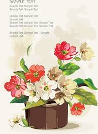 potted flowers potted flowers vector free vector in encapsulated postscript eps