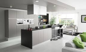 contemporary kitchen stainless steel wooden island inside