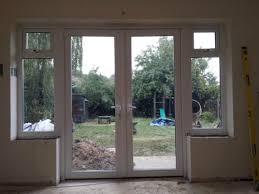 Ebay Patio Doors 1800mm X 2100mm White Pvc Upvc Door With Sides Windows