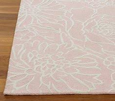 Pink And White Striped Rug Whimsy Flowers In Bloom Round Rug Simple Rugs And Nurseries