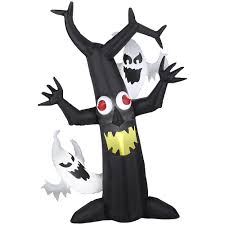 halloween inflatable gemmy halloween inflatable haunted tree with ghosts u2013 great