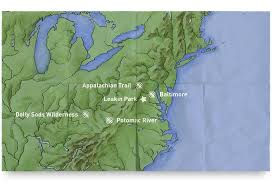 Michaux State Forest Map by Locations Outward Bound