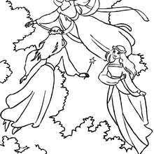 fairies mushroom coloring pages hellokids