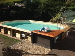 piscine bois ubbink allongée en kit 355x490xh130 cm