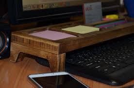 Vintage Desk Organizers Vintage Desk Organizer Gift For Him Wood Desktop Organizer