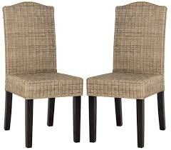 wicker dining room chairs sea8015a set2 dining chairs furniture by safavieh