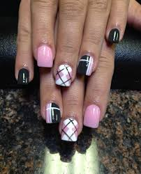 Baby Nail Art Design 35 Gingham And Plaid Nail Art Designs Nail Polish Combinations