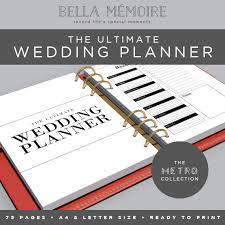 wedding planner organiser printable wedding planner metro collection instant