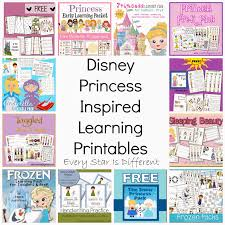 free disney inspired learning printable packs u0026 activities every