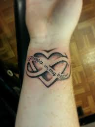 hearts n infinity sign tattoo design photos pictures and