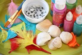 bird seashell ornaments for to make happy hooligans