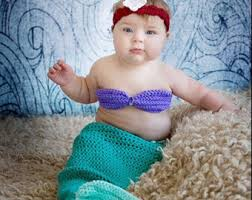 Mermaid Halloween Costume Toddler Crochet Baby Mermaid Etsy