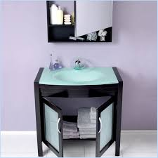 Glass Bathroom Sink Vanity Bathroom Cabinets Sink Home Design Ideas