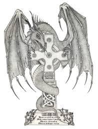 tattoo cross dragon dragon and cross tattoo design