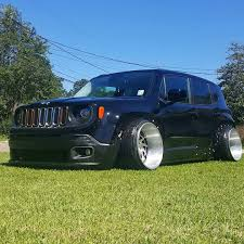 lowered jeep renegade mike martin out cutting that grass owner lunchie b stancewars