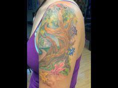 pics photos half sleeve family tree tattoos axsoris