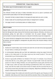 project status report template daily progress report template