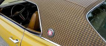Automobile Upholstery Fabric The Cougar Once Roared In Houndstooth Vinyl Top