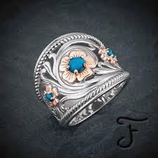 metal rings jewelry images Western jewelry handmade artisan jewelry fanning jewelry jpg