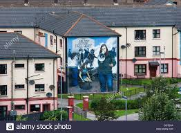 catholic district of londonderry or derry view from city wall catholic district of londonderry or derry view from city wall murals painted by bogside artists a project since 1994