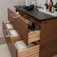 ikea kitchen sink cabinet godmorgon tolken sink cabinet with 2 drawers brown stained ash effect anthracite 32 1 4x19 1 4x23 5 8