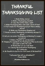 thankful thanksgiving list you made a list of things to do