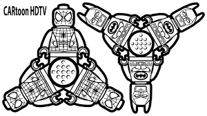 spinner lego batman vs spinner lego spiderman coloring pages