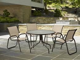 Casual Patio Furniture Sets - telescope casual glass top 48 round dining table with umbrella