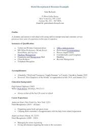 front desk receptionist sample resume hotel front desk resume