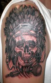 indian chief skull meaning tattoos of on
