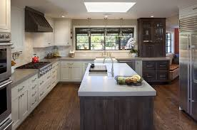 Ivory Colored Kitchen Cabinets Ivory Cabinets With Gray Kitchen Island Design Ideas