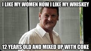 Jameson Meme - i like my women how i like my whiskey 12 years old and mixed up