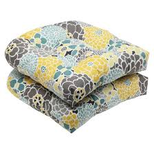 pillow perfect 2 piece outdoor wicker seat cushions lois target
