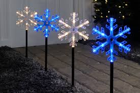 christmas lightshow snowman pathway stake set of the home depot