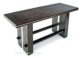 bar height table height bar height table distressed wood tall bar table bar height table