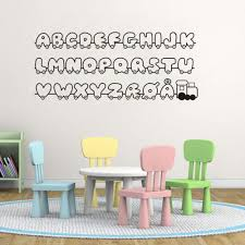 high quality vinyl wall lettering promotion shop for high quality danish letters decals alfabet vinyl wall stickers for kids room decor