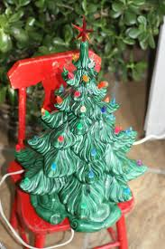 diy vintage ceramicmas tree with lights base for