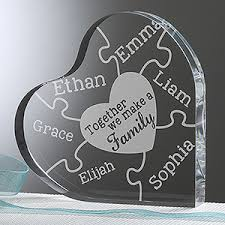 keepsake items personalized heart keepsake together we make a family